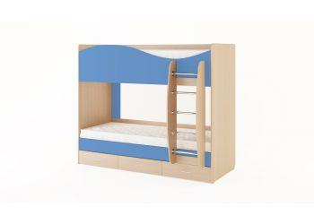 Кровать двухъярусная с ящиками (без матраца)